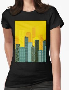 city skyline buildings vector Womens Fitted T-Shirt