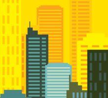 city skyline buildings vector Sticker