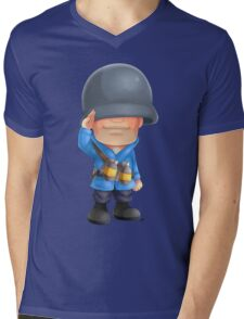 Chibi BLU Soldier Mens V-Neck T-Shirt