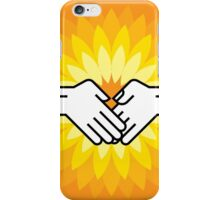 shake hands with pencil iPhone Case/Skin