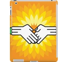 shake hands with pencil iPad Case/Skin