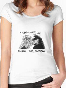 The 100  - Clarke Kom Skaikru Women's Fitted Scoop T-Shirt