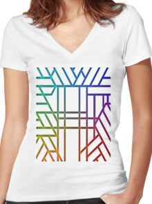 Colour and Colour Women's Fitted V-Neck T-Shirt