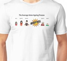 The Average Asian Ageing Process UK spelling Unisex T-Shirt