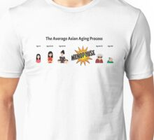 The Average Asian Ageing Process USA Spelling Unisex T-Shirt