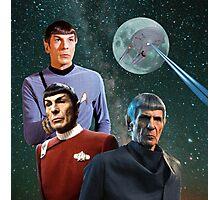 Three Spock Moon Photographic Print