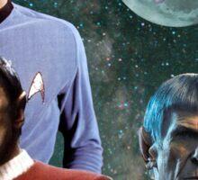 Three Spock Moon Sticker