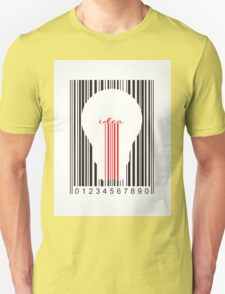 Stylish concept of idea bar code T-Shirt