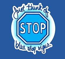 Undertale Blue Stop Signs by krisdrawsthings