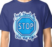Undertale Blue Stop Signs Classic T-Shirt