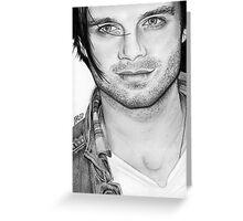 Sebastian Stan Greeting Card