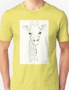 Giraffe Black and White T-Shirt