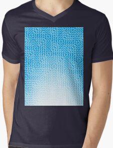 abstract light blue background Mens V-Neck T-Shirt
