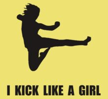 Kick Like A Girl Baby Tee