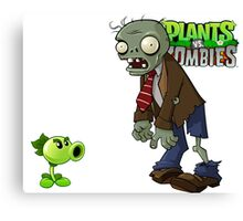 Plants Vs Zombies Case  Canvas Print