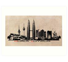 Kuala Lumpur skyline Art Print
