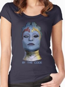 By the code Women's Fitted Scoop T-Shirt