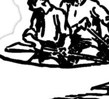 Paddle Faster Hear Banjos 2 Sticker