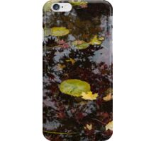 Fall Pond Reflections - a Story of Waterlilies and Japanese Maple Trees - Take One iPhone Case/Skin