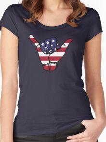 USA Shaka Women's Fitted Scoop T-Shirt