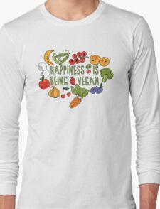 Vegan Happiness Fruit & Veggies Long Sleeve T-Shirt