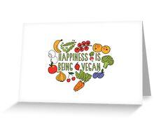 Vegan Happiness Fruit & Veggies Greeting Card