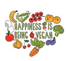 Vegan Happiness Fruit & Veggies by ginpix