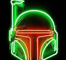 Neon Boba Fett Sign by Definifylife