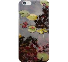Fall Pond Reflections - a Story of Waterlilies and Japanese Maple Trees - Take Two iPhone Case/Skin