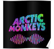 Arctic Monkeys - Logo (Psychedelic / Black)  Poster