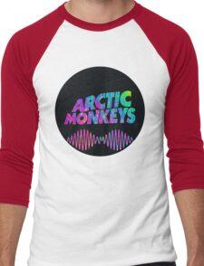 Arctic Monkeys - Logo (Psychedelic / Black)  Men's Baseball ¾ T-Shirt