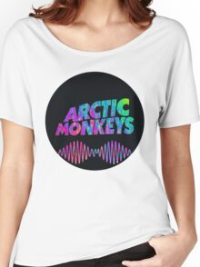 Arctic Monkeys - Logo (Psychedelic / Black)  Women's Relaxed Fit T-Shirt