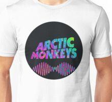 Arctic Monkeys - Logo (Psychedelic / Black)  Unisex T-Shirt