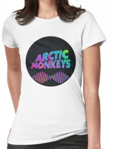 Arctic Monkeys - Logo (Psychedelic / Black)  Womens Fitted T-Shirt