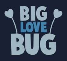 BIG LOVE BUG! with cute antennae One Piece - Short Sleeve