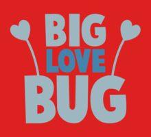 BIG LOVE BUG! with cute antennae Kids Tee