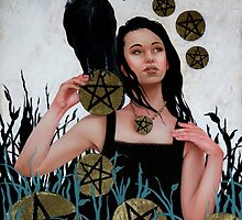 Nine of Pentacles by carlypaints