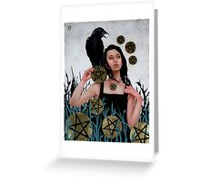 Nine of Pentacles Greeting Card