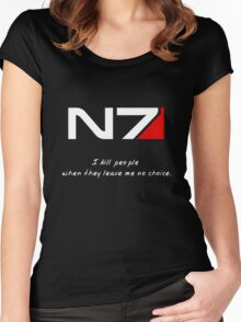 N7 - Almost Paragon Shepard Women's Fitted Scoop T-Shirt