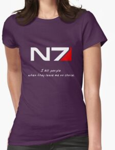 N7 - Almost Paragon Shepard Womens Fitted T-Shirt