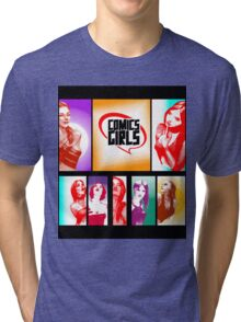 Comics Girls Tri-blend T-Shirt