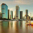 Brisbane from Kangaroo Point, Queensland, Australia by Michael Boniwell