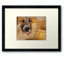 Silly Hoover Framed Print