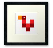 Pixel by pixel – Rooster Framed Print