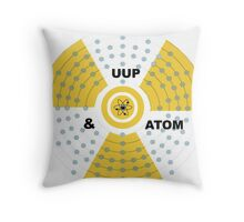 Up & Atom! Throw Pillow