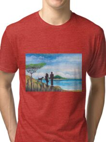 beach walk Tri-blend T-Shirt