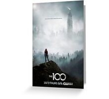 The 100 - Season 3 Poster - Clarke Griffin Greeting Card