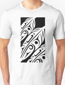 Three Feathers Abstract Zoom T-Shirt