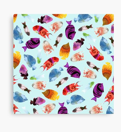 Fish shaped Flowers Canvas Print