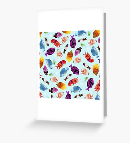 Fish shaped Flowers Greeting Card